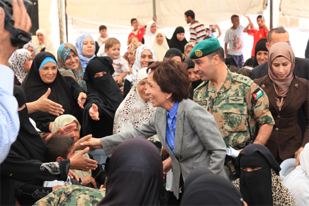 Princess Basma Leads Goodwill Campaign Efforts  in Duleil District<br/><br/><font size=1>21 July, 2013</font>